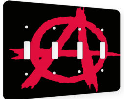 Anarchy - 4 Gang Switch Plate