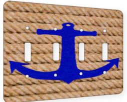 Anchored - 4 Gang Switch Plate