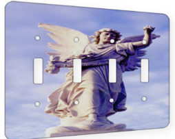 Angel Of Waverly Cemetery - 4 Gang Switch Plate