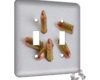 Bullets - 2 Gang Switch Plate
