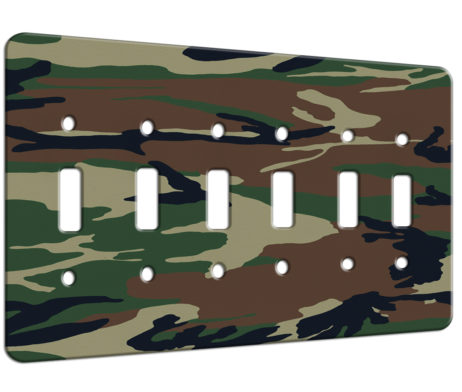 Camouflage - 6 Gang Switch Plate