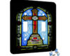 Cross Stain Glass Arch - 2 Gang Switch Plate