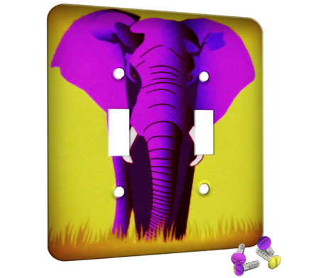 Elephant Pink - 2 Gang Switch Plate