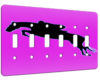 Horse Jumper Pink - 6 Gang Switch Plate