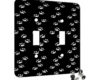 Kitty Cat Paw Prints - 2 Gang Switch Plate