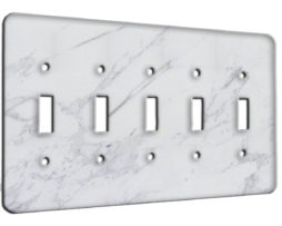 Marble Calcatta - 5 Gang Switch Plate