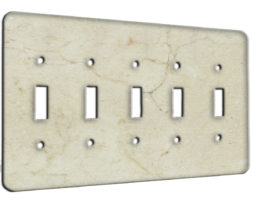 Marble Crema Marfil - 5 Gang Switch Plate