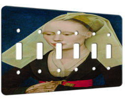 Rogier Van Der Weyden Portrait Of A Lady - 6 Gang Switch Plate