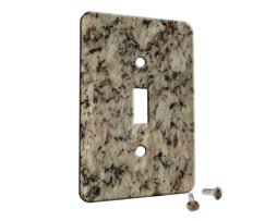 Santa Cecelia Granite - Single Gang Switch Plate