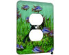 Scuba Fishing - 1 Gang AC Outlet Cover Plate