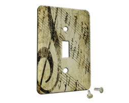 Sheet Music Vintage - Single Gang Switch Plate