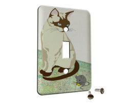 Siamese Cat n Mouse - Single Gang Switch Plate