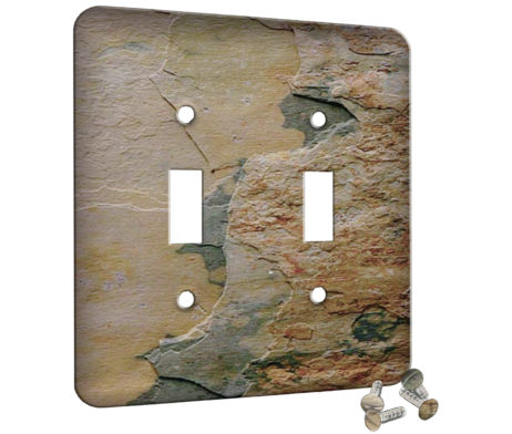 Slate Indian Autumn - 2 Gang Switch Plate
