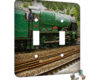 Train Green - 2 Gang Switch Plate