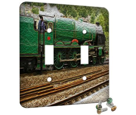 Train Green - 2 Gang Switch Plate