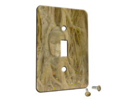 Tree Roots Asian Bust - Single Gang Switch Plate