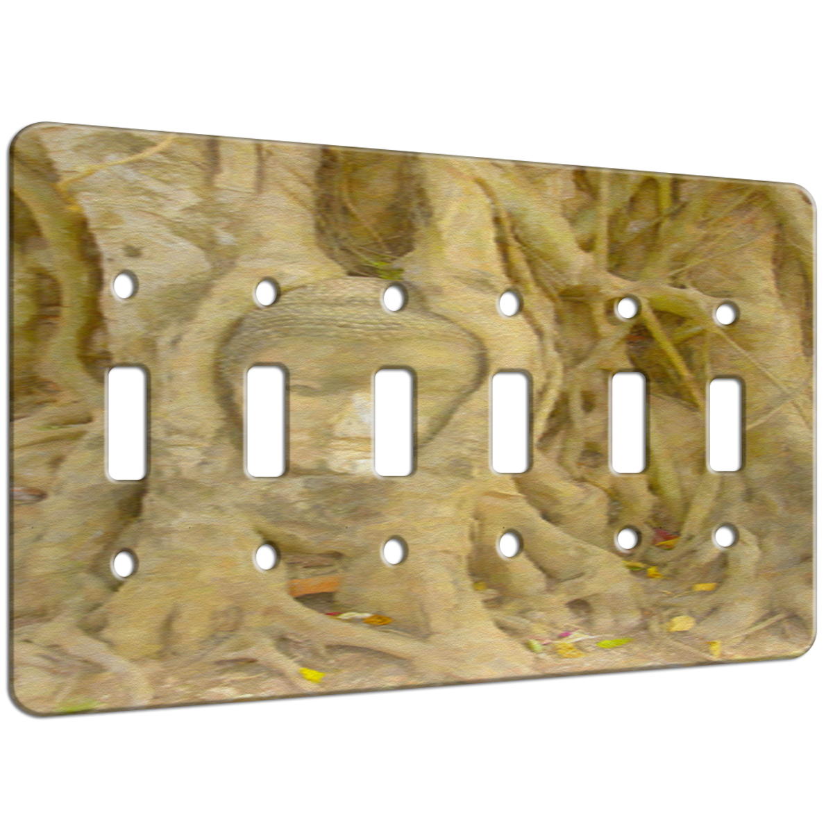 Tree Roots Asian Bust – 6 Gang Switch Plate | ELEMENTS OF SPACE