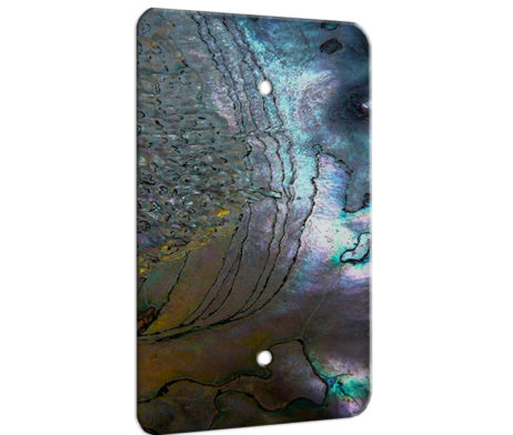 Abalone Metallic Shell - 1 Gang Blank Wall Plate Cover