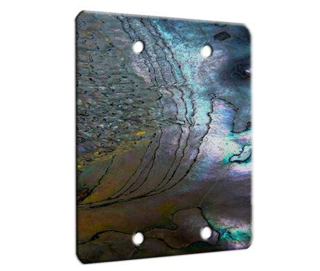 Abalone Metallic Shell - 2 Gang Blank Wall Plate Cover
