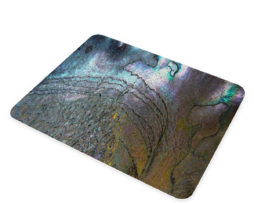 Abalone Metallic Shell - Glass Cheese Cutting Board
