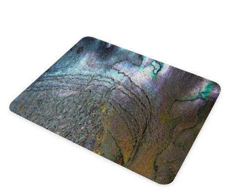 Abalone Metallic Shell - Glass Cheese Cutting Board