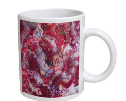 Agate Crazy Lace Red - 11 oz. White Coffee Mug