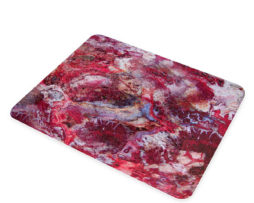 Agate Crazy Lace Red - Glass Cheese Cutting Board