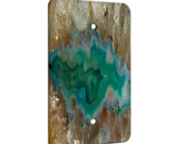 Agate Crystal Turquoise - 1 Gang Blank Wall Plate Cover