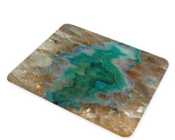 Agate Crystal Turquoise - Glass Cheese Cutting Board