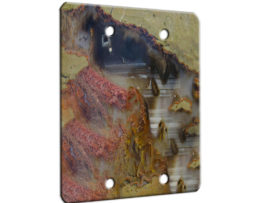 Agate Linear Landscape - 2 Gang Blank Wall Plate Cover