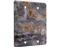 Agate Smokey Scape - 2 Gang Blank Wall Plate Cover