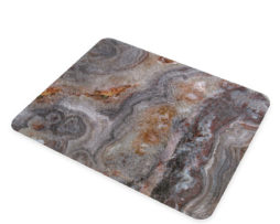 Agate Smokey Scape - Glass Cheese Cutting Board