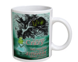 Alice in Wonderland Chesire Cat - 11 oz. White Coffee Mug