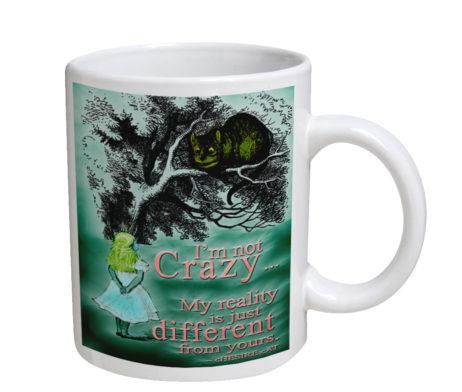 Alice in Wonderland Chesire Cat - 11 oz. White Coffee Mug