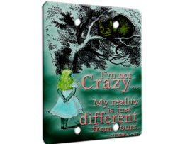 Alice in Wonderland Chesire Cat - 2 Gang Blank Wall Plate Cover