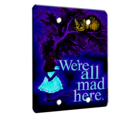 Alice in Wonderland Chesire Here - 2 Gang Blank Wall Plate Cover