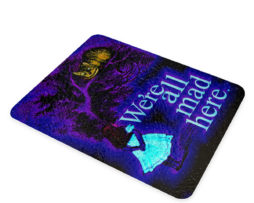 Alice in Wonderland Chesire Here - Glass Cutting Board