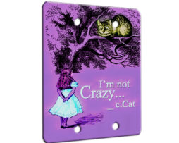 Alice in Wonderland Im Not Crazy - 2 Gang Blank Wall Plate Cover