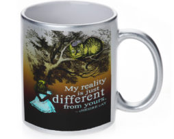 Alice in Wonderland My Reality - 11 oz. Silver Sparkle Coffee Mug