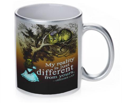 Alice in Wonderland My Reality - 11 oz. Silver Sparkle Coffee Mug