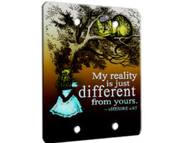 Alice in Wonderland My Reality - 2 Gang Blank Wall Plate Cover