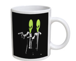 Alien Pulp Fiction - 11 oz. White Coffee Mug