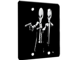 Alien Pulp Fiction Retro - 2 Gang Blank Wall Plate Cover