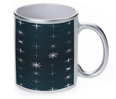All My Stars - 11 oz. Silver Sparkle Coffee Mug