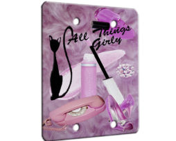 All Things Girly - 2 Gang Blank Wall Plate Cover