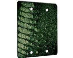 Alligator Texture - 2 Gang Blank Wall Plate Cover