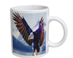 American Eagle Flag - 11 oz. White Coffee Mug