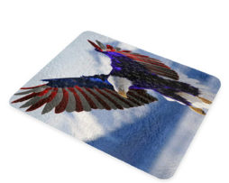 American Eagle Flag - Glass Cutting Board