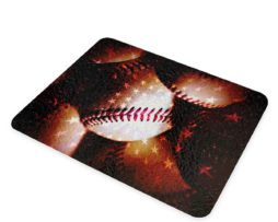 American Flag Baseball - Glass Cutting Board