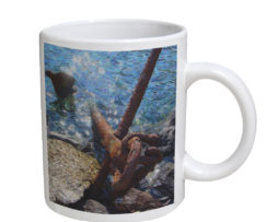 Anchor in Water - 11 oz. White Coffee Mug
